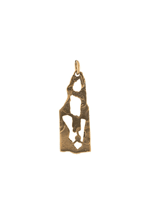 Acne Studios A hammered-finish pendant - Gold