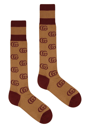 Gucci logo-intarsia socks - Brown