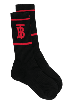 Burberry monogram motif intarsia socks - Black