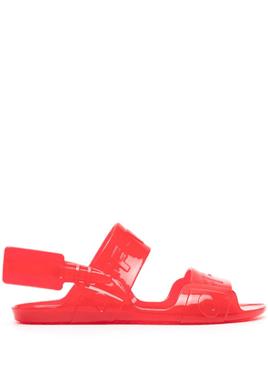 Off-White embossed logo-tape detail sandals - Red