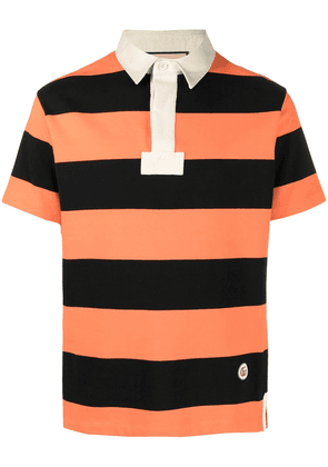 Gucci horizontal-stripe polo shirt - ORANGE