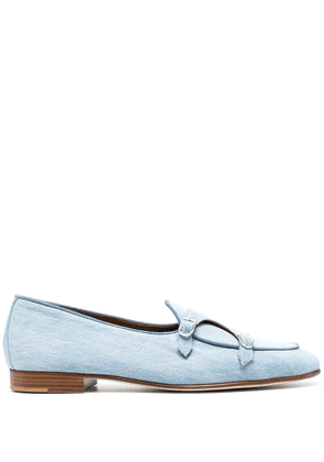 Edhen Milano side buckle-detail loafers - Blue