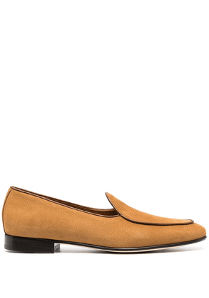 Edhen Milano almond-toe suede loafers - Brown