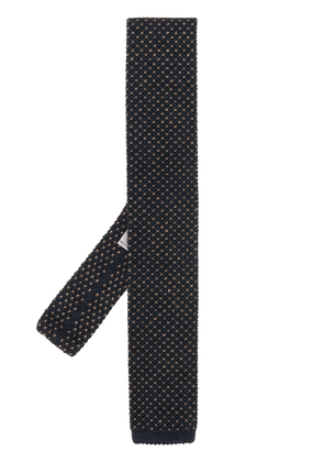 Canali square-tip tie - Blue