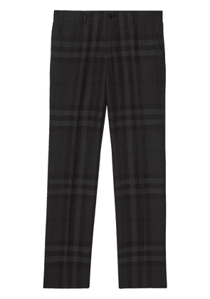 Burberry check-pattern tailored trousers - Grey