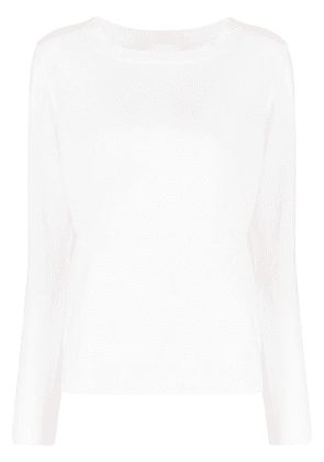 Allude crew-neck knitted jumper - White