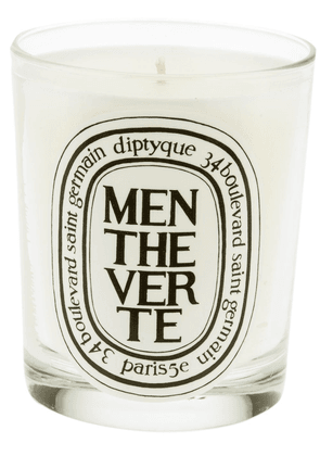 Diptyque Menthe Verte scented candle (190g) - White