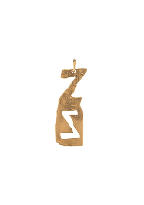 Acne Studios Z hammered-effect pendant - Gold