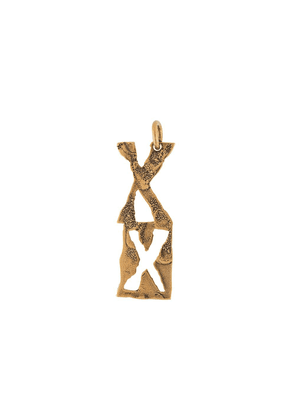 Acne Studios X hammered-effect pendant - Gold