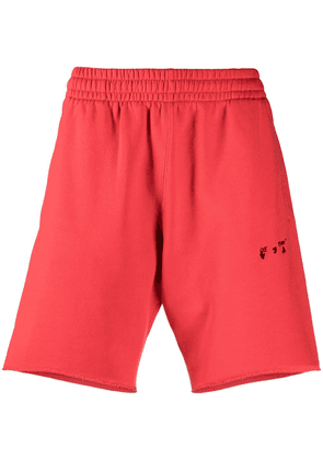 Off-White diagonals track shorts - Red