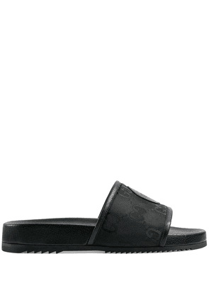 Gucci Off The Grid logo patch slides - Black