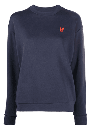 Être Cécile embroidered bulldog sweatshirt - Blue