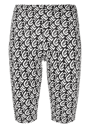 Être Cécile monogram print cycling shorts - Black