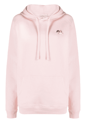 Fiorucci Icon Angels drawstring hoodie - Pink