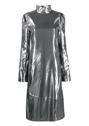 Acne Studios metallized cut-out dress - Silver