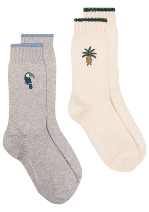 Desmond & Dempsey Howie and Bocas set of two socks - Grey