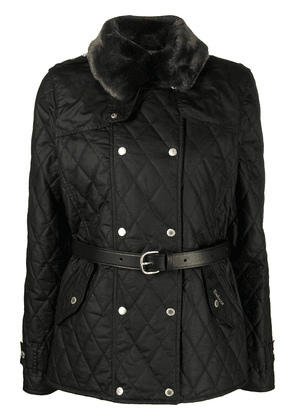 Barbour Elmis waxed quilted jacket - Black