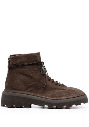 Marsèll ridged-sole ankle boots - Brown