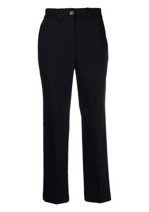 Moncler cropped trousers - Blue