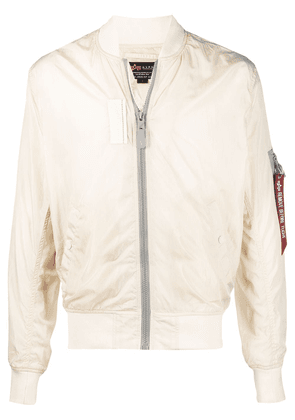 Alpha Industries MA-1 rib-trimmed bomber jacket - Neutrals