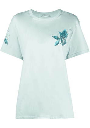 Givenchy Floral Schematics printed T-shirt - Blue