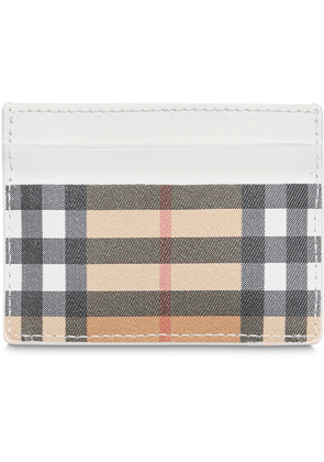 Burberry Vintage Check and Leather Card Case - Neutrals