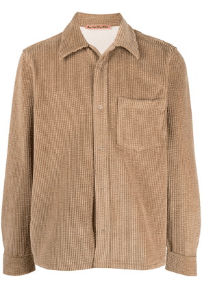 Acne Studios long-sleeve corduroy shirt - Neutrals
