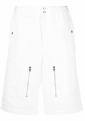 Alexander McQueen multi-pocket Bermuda shorts - White