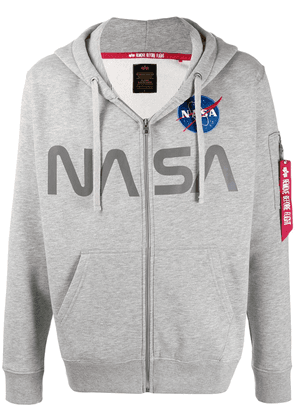 Alpha Industries NASA print hoodie - Grey