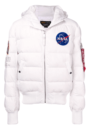 Alpha Industries reversible padded jacket - White