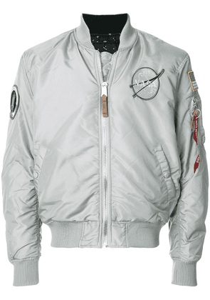 Alpha Industries space badge bomber jacket - Grey
