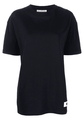 Acne Studios logo patch T-shirt - Black