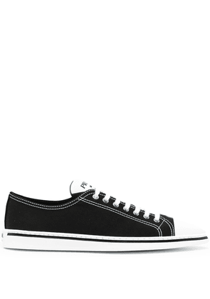 Prada pointed-toe sneakers - Black