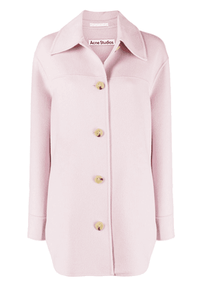 Acne Studios wool shirt jacket - Pink