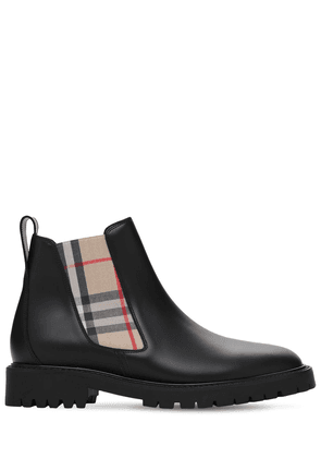 30mm Allostock Leather & Check Boots
