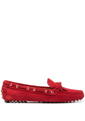 Car Shoe slip-on leather loafers - Red