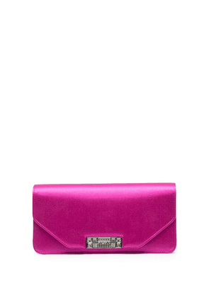 Gucci logo-engraved clutch - Pink