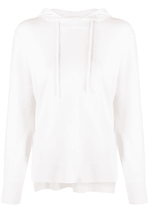 Allude hooded oversized-fit jumper - Neutrals