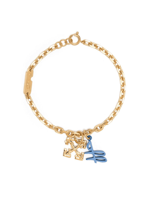 Off-White Leaves Arrow logo bracelet - Gold