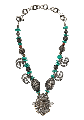 Gucci beaded GG Marmont necklace - Silver
