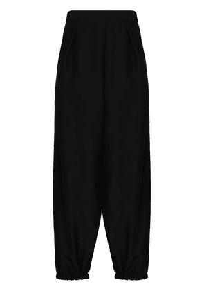 Saint Laurent cropped wool-blend trousers - Black