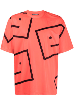 Acne Studios oversized Face print T-shirt - Pink