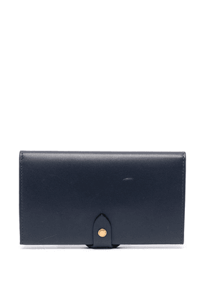 Burberry equestrian shield two-tone leather purse - Blue