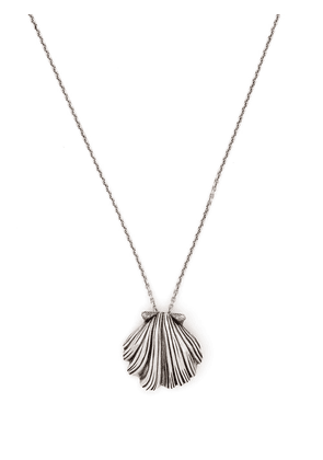 Saint Laurent shell pendant necklace - Silver