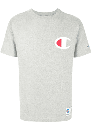 Champion logo patch crew neck T-shirt - Grey