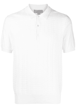 Canali embroidered polo shirt - White
