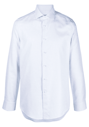 Canali button-down fitted shirt - White