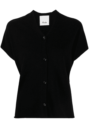 Allude short-sleeve relaxed cardigan - Black