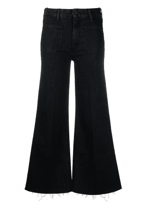 MOTHER wide-leg cropped jeans - Black