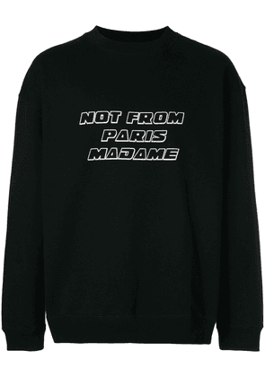 Drôle De Monsieur Not From Paris sweatshirt - Black